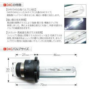 ハイエース200系D4Cバルブ(D4S/D4R対応)/純正交換用HIDバーナー35W/12V2個セット