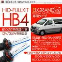 エルグランド E50系 後期 HIDキット HB4 35W/12V ヘッドライト HIDフルキット/HIDコンバーションキット 薄型バラスト