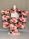 椿姫ブランド ワンランクアップの交織四ッ身着物 七歳用女児きもの 七五三着物 日本製 X0535-04