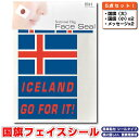 アイスランド 国旗 フェイスシール タトゥシール 【 ワールド対応ステッカー ☆ サッカー・野球 ラグビー 代表応援グッズ♪