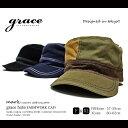 【あす楽対応】grace/グレース FARMWORK CAP大きいサイズ対応 切替え ステッチ ワークキャップ全3色 (フリーサイズ XLビックサイズ)メンズ レディース 帽子 キャップ ゴルフ【RCP】P20Aug16