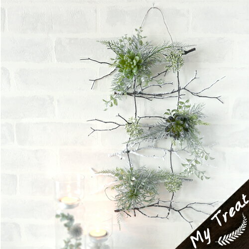 wintreサキュレントブランチ多肉植物k壁掛け/アートフラワー(造花)型崩防止加工無料サービスウェ