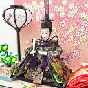 【全品ポイント最大43倍】雛人形 ひな人形 おしゃれ おひなさま お雛様 コンパクト 壁掛け ケース飾り 親王飾り 名前旗付 【2019年度新作】