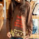 ショッピングペアルック 【 クーポンで 最大500円OFF 〜8/16 】 【 送料無料 】 猫 ねこ おもしろ かわいい ロンT Griper ( チョコレート ) | ネコ 猫柄 猫雑貨 | メンズ レディース 長袖 Tシャツ 服 | おしゃれ 親子 ペアルック プレゼント | 大きいサイズ 【メール便】 SCOPY / スコーピー