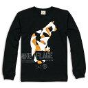 ネコ好き のための 猫柄 ロンT MIKE-FLAGE ( ブラック ) | ねこ 猫 猫雑貨 | メンズ レディース | SCOPY / スコーピー