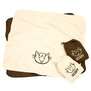 ネコ好き のための 猫柄 フリース ブランケット CAT LOVER ナチュラル チョコレート | ねこ 猫 猫雑貨 猫グッズ | 猫の日 | SCOPY / スコーピー