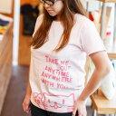 【 送料無料 】 猫 ねこ おもしろ かわいい レディース Tシャツ Griper ( ベビーピンク )   ネコ 猫柄 猫雑貨   半袖 服   おしゃれ プ..
