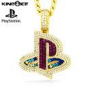 King Ice×PlayStation キングアイス プレイステーション ネックレス ゴールド VVSダイヤモンド ダイアモンド