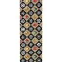 半幅帯 正絹「クリスマスモチーフ」 茶系 京玉響 西陣織