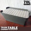 トランクカーゴ 兼用 アルミ 天板 縞板 4枚セット テーブルトップ 70L用 トラスコ 無印良品 キャンプ アウトドア 収納ケース ボックス 縞模様