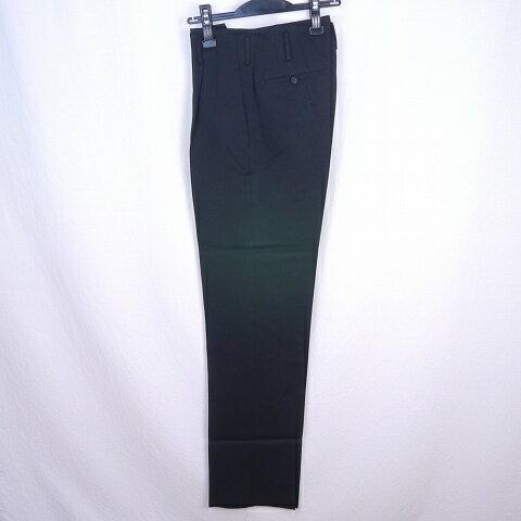 AP642 【新品】標準型に近いワンタック変形男子学生服変形ズボン学生ズボンW70 ワタリ33-23裾 黒 DK在庫