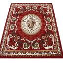 激安 じゅうたん カーペット マット ラグマット 4.5畳 四畳半 4.5帖 ラグカーペット 春夏秋冬 オールシーズン 安い ベルギー製 輸入ラグ カーペット レッド 約240×240cm シラーズ1123(Y) 絨毯 ジュータン 赤 red roze rug carpet mat