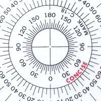 全円分度器C-15(直径15cm)