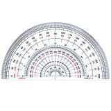 半分度器 S-18 (直径18cm) デザイン文具 事務用品 製図 法人 領収書【楽ギフ包装】【楽ギフメッセ】10P01Mar15