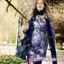 ショッピングセラフ Seraphine セラフィン Alessandra マタニティワンピース−小花柄 サイズ:8(日本サイズ7〜9号)