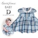 ショッピングアルター Seraphine BABY セラフィン ベビー ANNA COTTON ブルータータンのコットンワンピース  サイズ:12ヶ月・18ヶ月