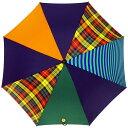 傘 RING coco 65cm メンズ おしゃれ プラスリング 長傘 男性用 T284 タータンチェック グリーン オレンジ