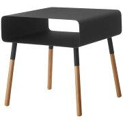 サイドテーブル 山崎実業 PLAIN ローサイドテーブル 収納付き 角型 低め おしゃれ! YAMAZAKI プレーン ブラック