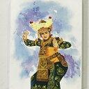 バリ絵画 人物画 レゴンダンス W30×H40 (1173-4) 【バリの絵 バリアート アートパネル モダン 祭り 舞踊 民族舞踊 絵 バリ雑貨】