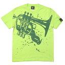 ショッピング2week 2weekセール!! Funk Jazz Tシャツ (ライムグリーン) hw003tee-lm -G完- グラフィック ジャズ ブルース ファンク スウィング 音楽 バンビ オリジナル 半袖 かっこいい おしゃれ メンズ レディース ユニセックス コットン綿100% 緑色 大きめサイズ【RCP】