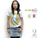 Rainbow Record (レインボーレコード) Tシャツ - sp028tee-Z完- 虹色 音楽 ミュージック ポップ ロック グラフィック かわいい カジュ..