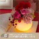 楽天西井バラ園 フラワーギフトのお店LED/キャンドル/プリザーブドフラワールミエール[キュート] プリザ 誕生日 記念日 プレゼントに バラ ハート