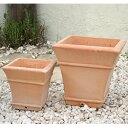 PJレネ M・Sサイズ2点セット  ≪植木鉢/おしゃれ/寄せ植え/陶器/テラコッタ/素焼き鉢≫