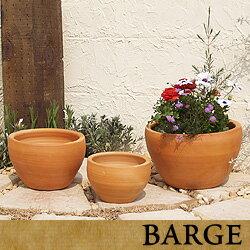 テラコッタ E26 3点セット  ≪植木鉢/おしゃれ/陶器/テラコッタ/素焼き鉢≫...:barge-ec:10001089
