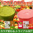 16種の野菜×25種の果物×100種類の酵素がギュギュギュ〜っと溶けこんでいます。もうミキサーは必要ありません。話題のスムージーダイエットを試してみませんか♪【送料無料】5秒に1袋売れるスムージーDIET!【ピンク&グリーン・スムージートライアルSET】(メール便での発送)-7kg達成続出!?今話題のスムージーダイエットが簡単にはじめられる!1食わずか59円!毎朝のんで目指すは10kgダイエット!