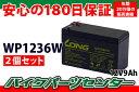 UPS、防災・防犯システム等多目的バッテリー WP1236W 2個セット【12V 9Ah】 『バイク