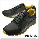 PRADA プラダ メンズレザースニーカー CALZATURE UOMO/ 4E2830 OQT ブラック【あす楽対応】