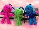 タイ政府認定OTOPブランド!幸運を呼び悪いことから守ってくれるブドゥー人形携帯ストラップ5個...