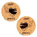 自衛隊グッズ コルクコースター2枚セット百里基地 (新田原基地所属時デザイン) 第301飛行隊 「ガマガエル」
