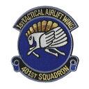 自衛隊グッズ ワッペン 航空自衛隊 小牧基地 第401飛行隊 ブルーバージョン パッチ