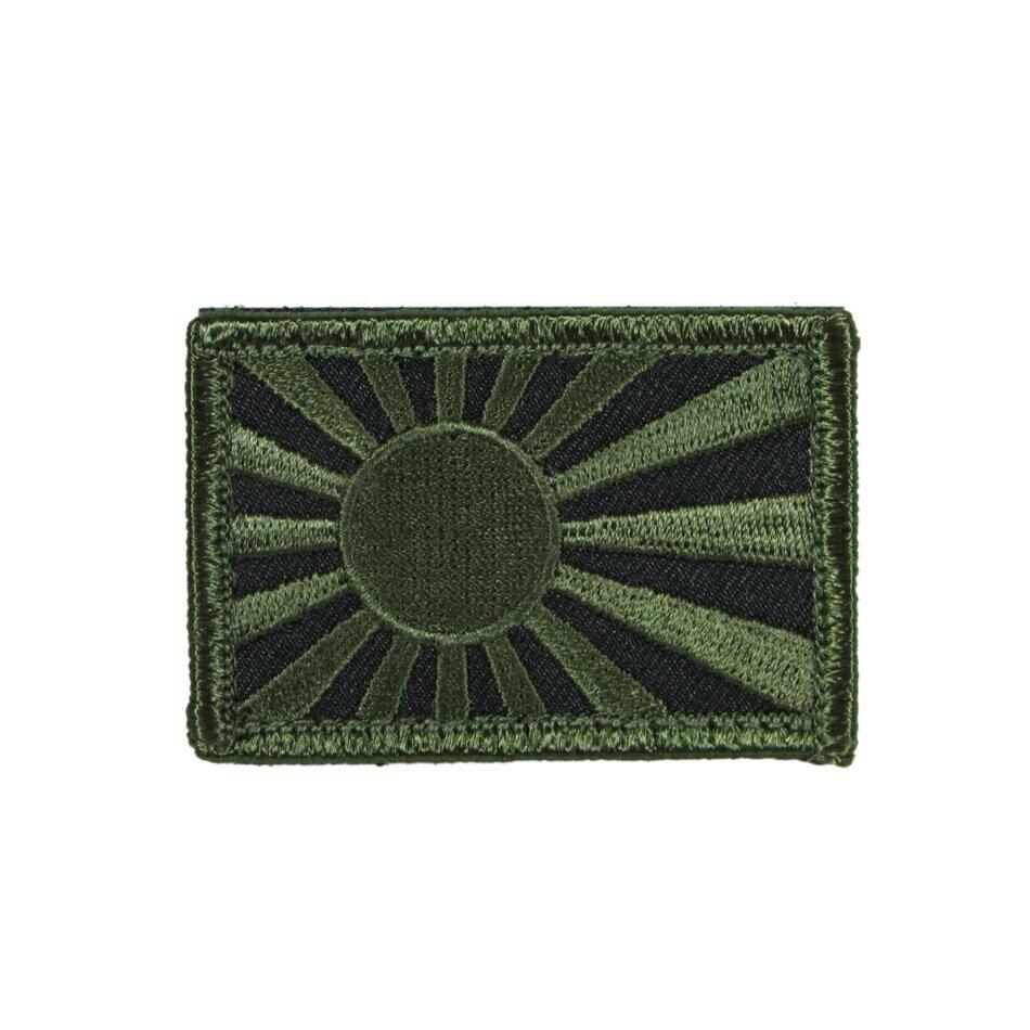 自衛隊グッズ ワッペン 軍艦旗 肩用パッチ OD色 ベルクロ付