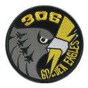 自衛隊グッズ ワッペン 航空自衛隊 小松基地 第6航空団 第306飛行隊 GOLDEN EAGLE ロービジ