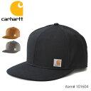 カーハート【carhartt】101604 カラー追加!!スナップバックキャップ カジュアル メンズ レディース ブラウン ブラック 帽子