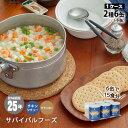 非常食サバイバルフーズツーアンドハーフ(1/4)セット[約15食相当]チキンシチュー(約134g)3缶&クラッカー(約224g)3缶