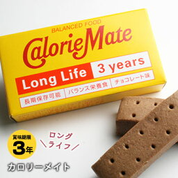 携帯食 保存食 <strong>カロリーメイト</strong>ロングライフ[2本入]チョコレート味(大塚製薬 非常食 保存食)【賞味期限2022年7月27日迄】