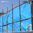 エコファミリーシート(ブルーシート)#3000[3.6×5.4m]×10枚セット(萩原工業/防水シート)