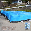 エコファミリーシート(ブルーシート)#3000×2枚セット(萩原工業 防水シート)