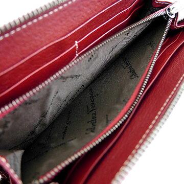 SalvatoreFerragamoサルヴァトーレフェラガモラウンドファスナー長財布財布【中古】