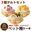 誕生日ケーキ クリスマスケーキ ワンちゃん用 犬用 ワンちゃん用 プチタルトケーキセット (苺、栗、チーズ) ペットケーキ