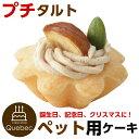 誕生日ケーキ クリスマスケーキ ワンちゃん用 犬用 ワンちゃん用 プチタルト 栗のタルトケーキ ペットケーキ