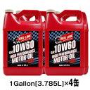 【送料無料】REDLINE [レッドライン] エンジンオイル 10W601Gallon[3.785L]×4缶セットAPI:SM/CF、ACEA:A3/B3/B4 10W60-ROMO4110