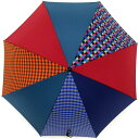傘 RING coco 65cm メンズ おしゃれ 雨傘 プラスリング 長傘 男性用 T281 ギンガムチェック オレンジ ブルー