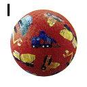 子供用ボール 18cm オモチャ カラフルボール 天然ラバー 中くらいのサイズのボール クロコダイルクリーク Crocodile Creek 花柄 恐竜柄 働く車柄 宇宙柄 ひまわり ちょうちょ てんとうむし アニマル 柄物ボール インポート