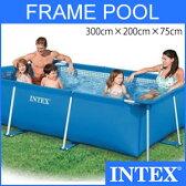 プール ビニールプール INTEX インテックス 大型 長方形 3m×2m×75cm 水あそび レジャープール 家庭用プール キッズ 子供用プール 自宅用プール ベランダ