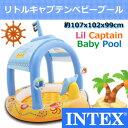107cm INTEX /インテックス ベランダ 1才 から使える屋根付き リトルキャプテン ベビープール ラブベビープール 子供 こども用 3才 海賊 ビニールプール 子供用