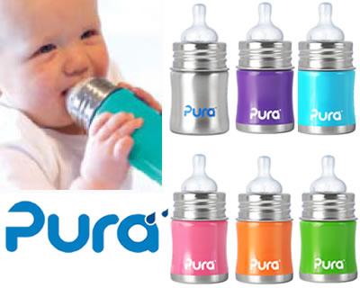 【パパ・ママ応援セール★】Pura kiki ピュラ キキ(ピュラキキ) 世界初 ステンレス 哺乳瓶 0〜4ヶ月インファントボトル 150ml